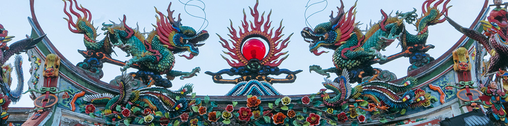 Roof decoration of Hong San Si Temple