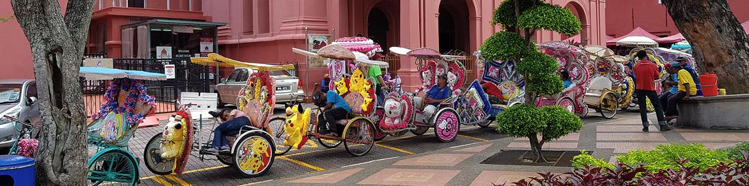 Pimped up trishaws of Malacca