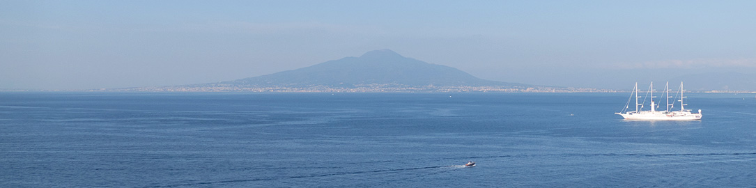 Mount Versuvius as seen from Sorrento