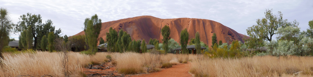 View of Uluru from the Uluru-Kata Tjuta National Park cultural centre