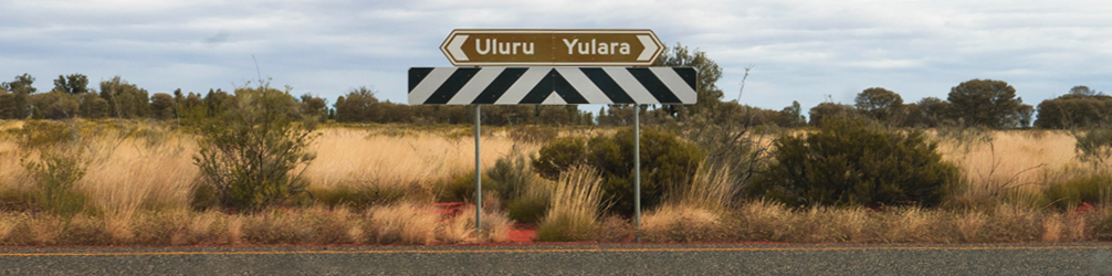 Road signs on Uluru road